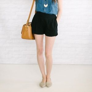 JCrew Textured Black Shorts